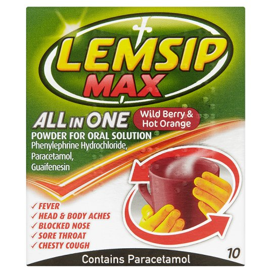 Lemsip Max Allin One Berry And Orange Sachs X 10