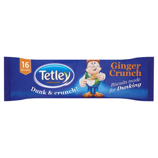 Tetley Ginger Dunk And Crunch 250G - Groceries - Tesco Groceries