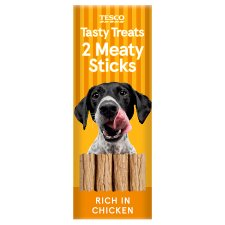 Tesco Meaty Stick Chicken Dog Treats 24G