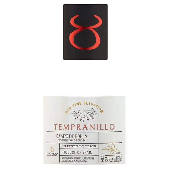 Tesco Finest Old Vines Tempranillo 75Cl