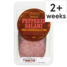Tesco German Peppered Salami 130G