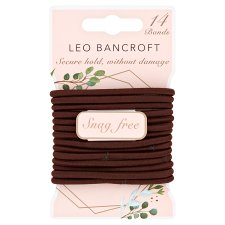 Leo Bancroft Snagfree Hairbands Brown 14 Pack
