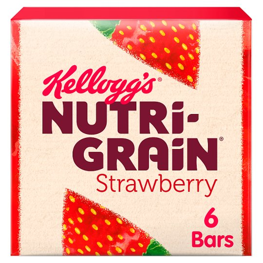 Kelloggs Nutrigrain Strawberry 6 X37g