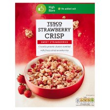 Tesco Strawberry Crisp Cereal 500G