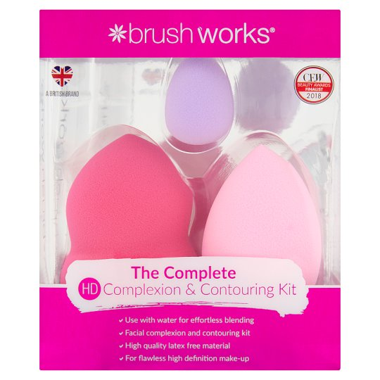 Brushworks High Definition Complexion And Contouring Set