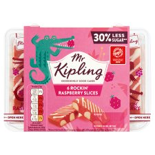 Mr Kipling Rockin Raspberry Slices 6 Pack