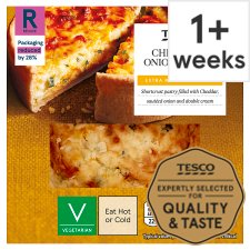 Tesco Cheese And Onion Quiche 160G