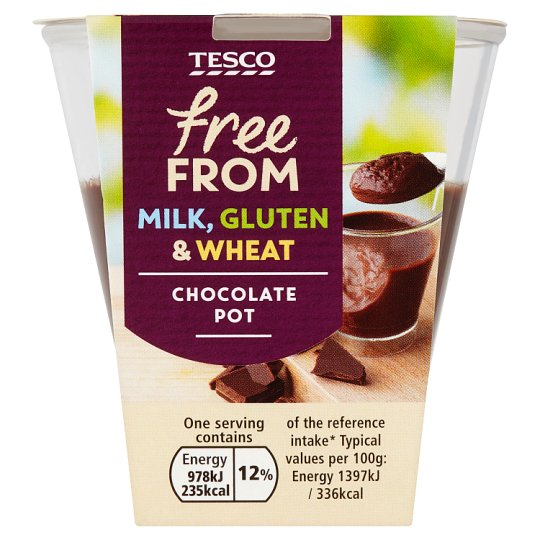 Tesco Free From Chocolate Pot 70G