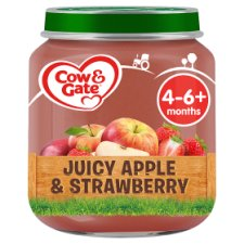 Cow & Gate Stage 1 Apple And Strawberry 125G Jar