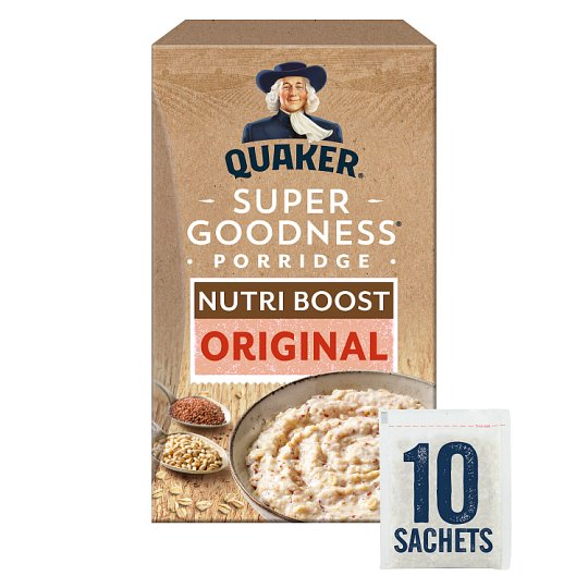 Quaker Super Goodness Original Porridge 10 X 30.7G