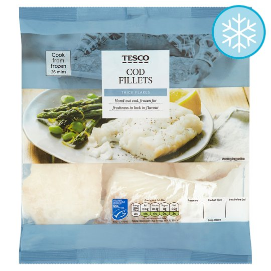 Tesco 5 Cod Fillets 450G