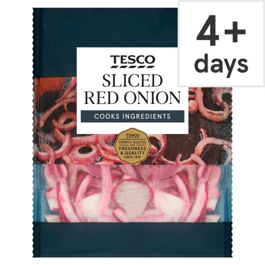 image 1 of Tesco Sliced Red Onion 180G