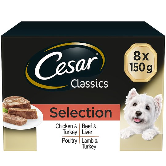 image 1 of Cesar Classic Selection Dog Food Trays 8 X150g