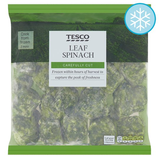 Tesco Leaf Spinach 900G