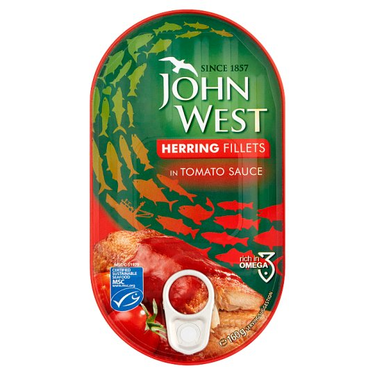 John West Herring Fillets In Tomato Sauce 160G