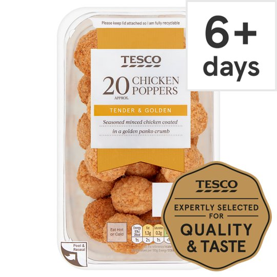 Tesco 20 Chicken Poppers 200G