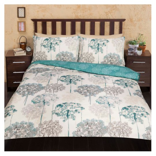 tesco meadow watercolour floral king size groceries. Black Bedroom Furniture Sets. Home Design Ideas