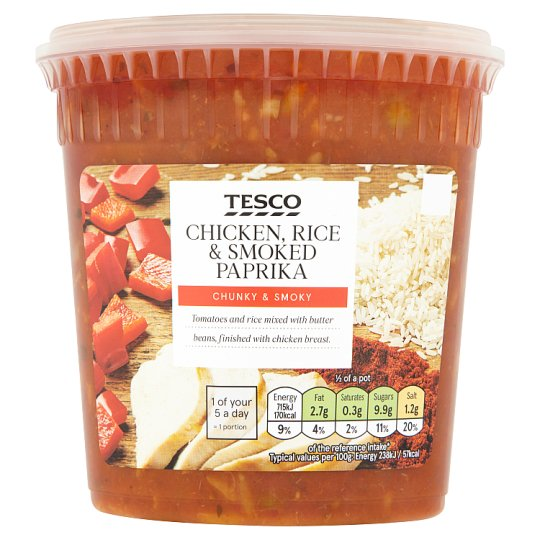 Tesco Spanish Chicken And Rice Soup 600G