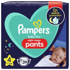 Baby Dry Size 4 Night Time Nappy Pants 39 Nappies