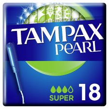 Tampax Pearl Super Tampons Applicator 18 Pack