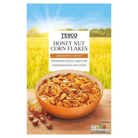 Tesco Honey Nut Corn Flakes Cereal 500G