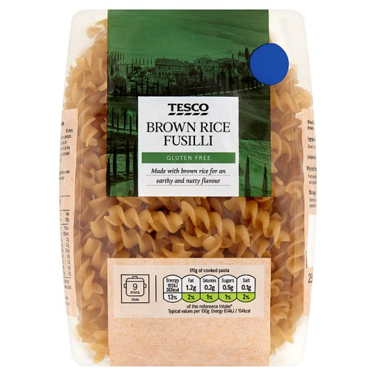 Tesco Brown Rice Fusilli Gluten Free 250G