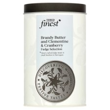 Tesco Finest Brandy Butter And Cranberry And Clementine Fudge 200G