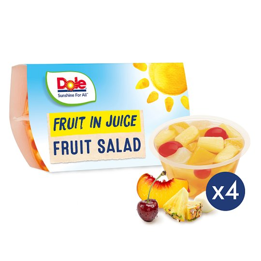 Dole Fruit Salad With Cherry 4X113g