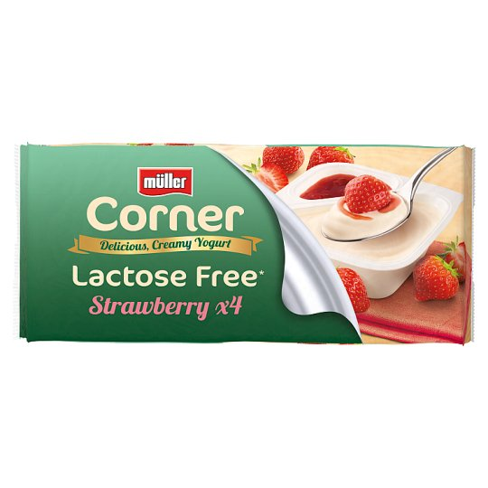 image 1 of Muller Corner Lactose Free Strawberry 4 Pack