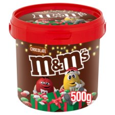 M&M's Chocolate Christmas Colours Bucket 500G