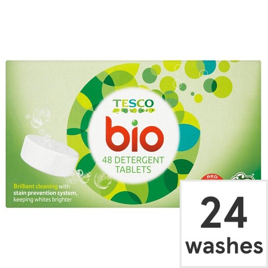 Tesco Bio. Tablets 48 Pack 24 Washes