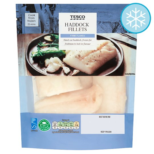 Tesco 5 Haddock Fillets 400G