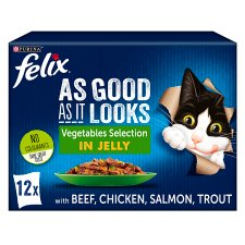 Felix As Good As It Looks Cat Food Vegetable 12X100g