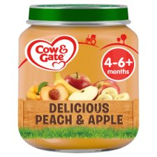 image 1 of Cow & Gate Stage 1 Peach And Apple 125G Jar