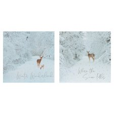 Tesco Snowy Winter Scene Cards 10 Pack