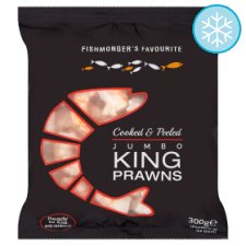 Fishmongers Favourite Jumbo King Prawns 300G