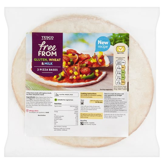 Tesco Free From Pizza Bases 2 Pack