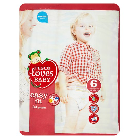 Tesco Loves Baby Easy Fit Pants Size 6 Extra Large 34