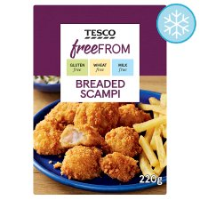 Tesco Free From Breaded Scampi 220G