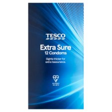 Tesco Sequre Extra Safe Condoms 12S