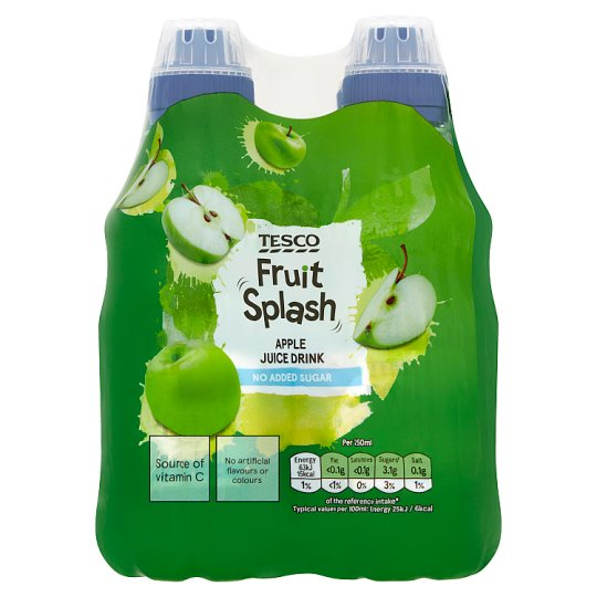 Tesco Fruit Splash Apple 4X250ml