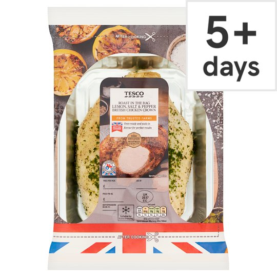 Tesco British Chicken Crown With Salt And Pepper 700G