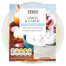 Tesco Reduced Fat Onion Garlic Dip 200G