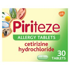 Piriteze Allergy Antihistamine Tablets 30S