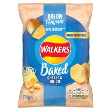 Walkers Baked Cheese And Onion Crisps 37.5 G