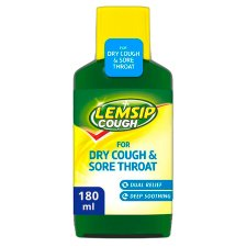 Lemsip Dry Cough And Sore Throat Liquid 180Ml