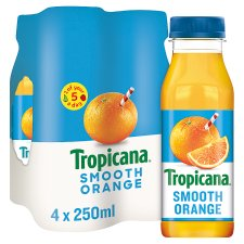 image 1 of Tropicana Orange Juice Smooth 4 X 250 Ml