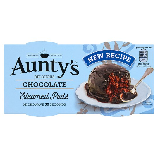Auntys Chocolate Puddings 2 X 95G