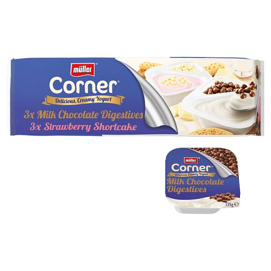 image 1 of Muller Corner Mixed Biscuit Yogurt 6 X135g