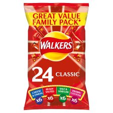 Walkers Classic Variety Multipack Crisps 24 X 25G